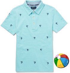 Polo Ralph Lauren Boys Ages 8 - 10 Embroidered Cotton-Piqué Polo Shirt