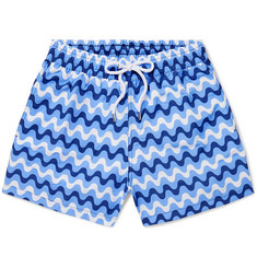 Frescobol Carioca Copacabana Short-Length Printed Swim Shorts