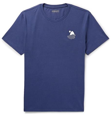 FRESCOBOL CARIOCA Carioca Surf Cotton-Jersey T-Shirt in Navy