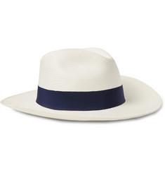 9eb6c86ccf9 Frescobol Carioca - Grosgrain-Trimmed Straw Panama Hat