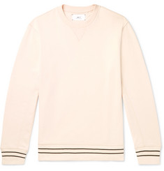Mr P. Contrast-Tipped Loopback Cotton-Jersey Sweatshirt
