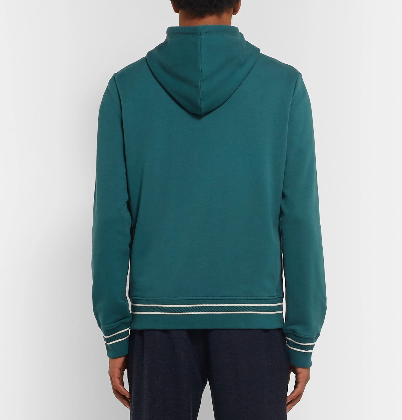 Mr Jersey P Cotton Tipped Loopback contrast Hoodie ArvnxwA