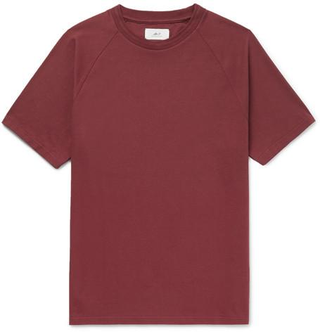 Mr P. Cotton-jersey T-shirt In Burgundy