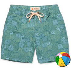 Mollusk Boys Ages 2 - 12 Printed Cotton-Blend Swim Shorts