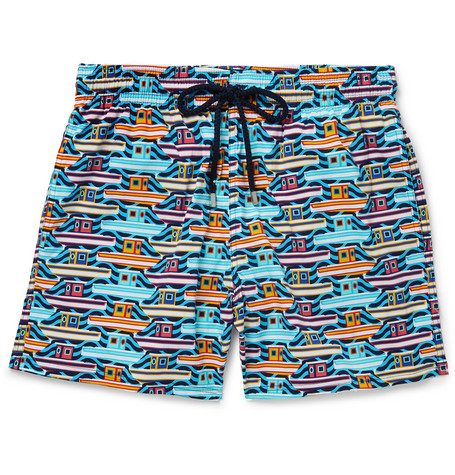 66b4dec40 Vilebrequin - Moonrise Mid-Length Printed Swim Shorts