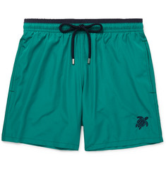 Vilebrequin Mokami Slim-Fit Mid-Length Embroidered Swim Shorts