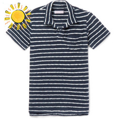 Orlebar Brown Boys Ages 4 - 12 Digby Striped Cotton-Terry Polo Shirt