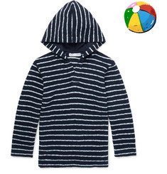 Orlebar Brown Boys Ages 4 - 12 Harley Striped Cotton-Terry Hoodie