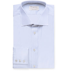 Kingsman + Turnbull & Asser Cutaway-Collar Striped Cotton Shirt