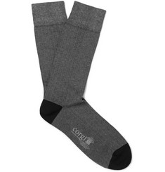 Kingsman Ribbed Cotton-Blend Socks