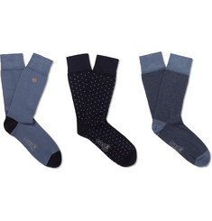Kingsman - Three-Pack Cotton-Blend Socks