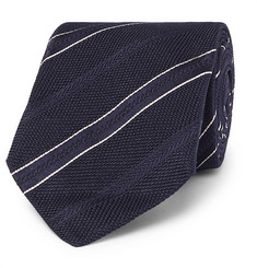 Kingsman - + Drake's 8cm Striped Silk-Jacquard Tie
