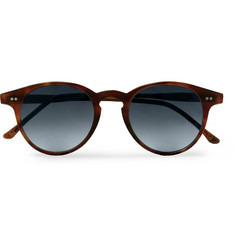 Kingsman - + Cutler and Gross Round-Frame Tortoiseshell Acetate Sunglasses