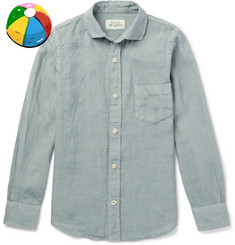 Hartford Boys Ages 2 - 12 Slub Linen Shirt