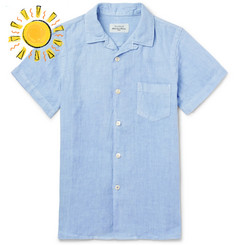 Hartford Boys Ages 2 - 12 Linen Shirt