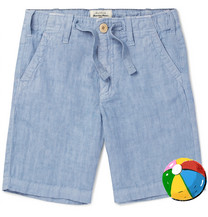 HARTFORD Boys Ages 2 - 12 Linen-chambray Drawstring Trousers - Navy LiIVQzw