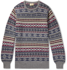 William Lockie Fair Isle Shetland Cashmere Sweater