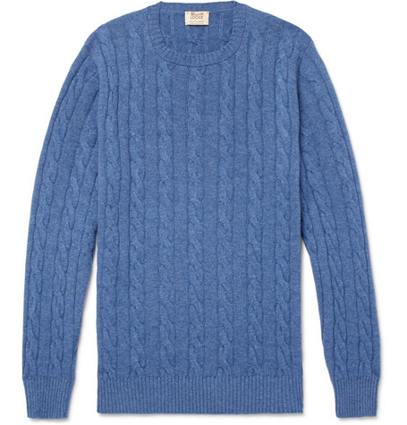 Cable Knit Cashmere Sweater by William Lockie