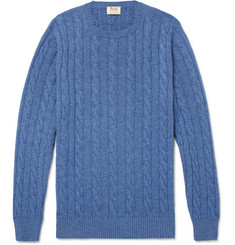 William Lockie - Cable-Knit Cashmere Sweater
