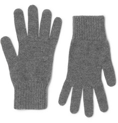 William Lockie Mélange Cashmere Gloves