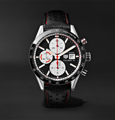 TAG Heuer Carrera Automatic Chronograph 41mm Steel and Leather Watch