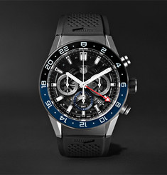 TAG Heuer - Carrera GMT Automatic Chronograph 45mm Stainless Steel and Rubber Watch