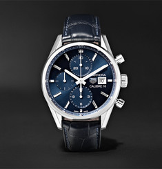 TAG Heuer Carrera Automatic Chronograph 41mm Steel and Alligator Watch