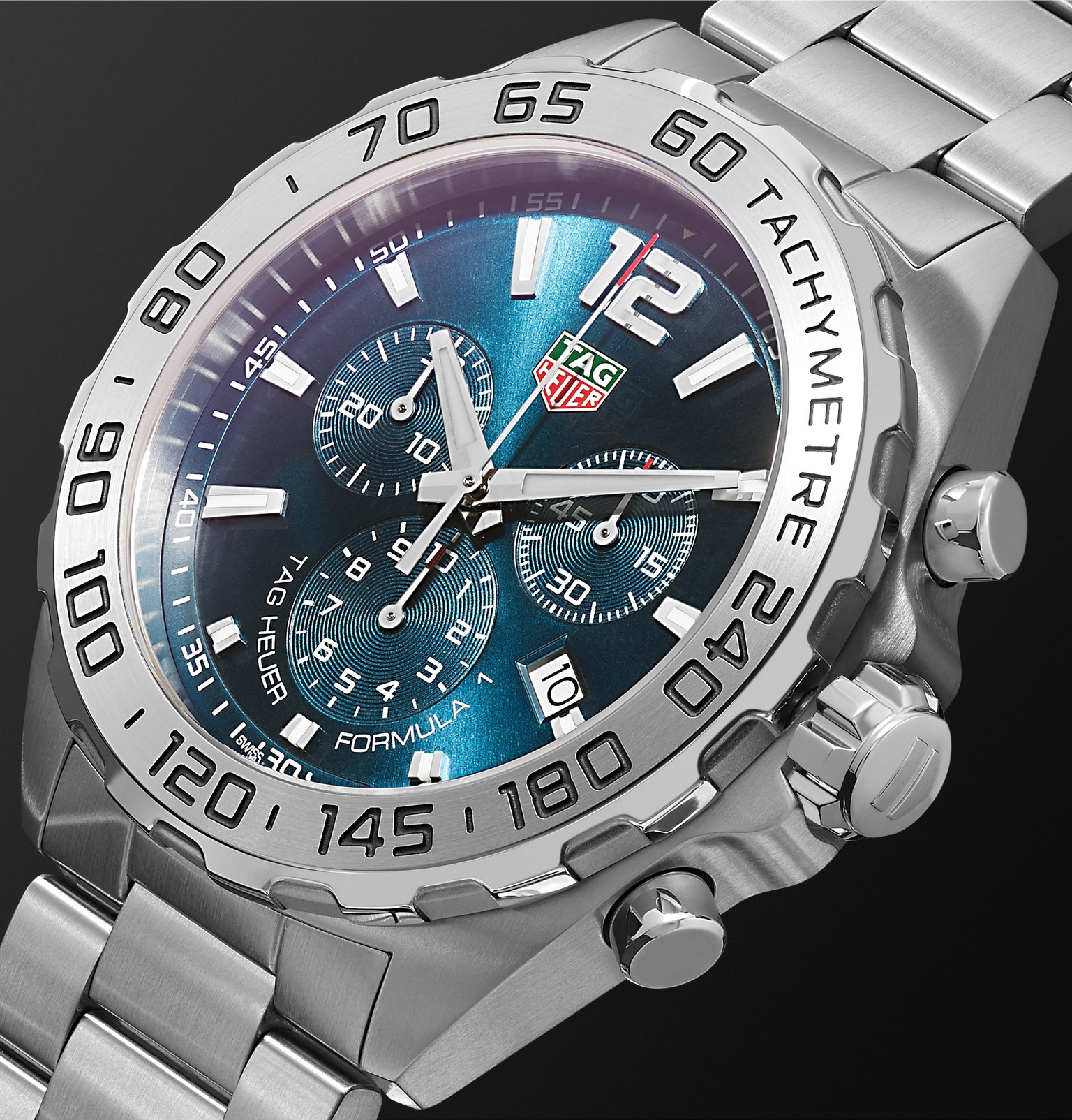 timeless design 8f8d4 65fb6 TAG Heuer - Formula 1 Chronograph 43mm Stainless Steel Watch ...