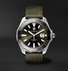 TAG Heuer - Aquaracer Limited Edition Quartz 43mm Steel and Webbing Watch