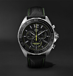 TAG Heuer Formula 1 Limited Edition Aston Martin Quartz Chronograph 43mm Stainless Steel and Leather Watch, Re