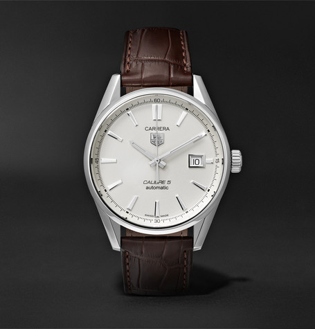 TAG Heuer Carrera Automatic 39mm Steel and Alligator Watch
