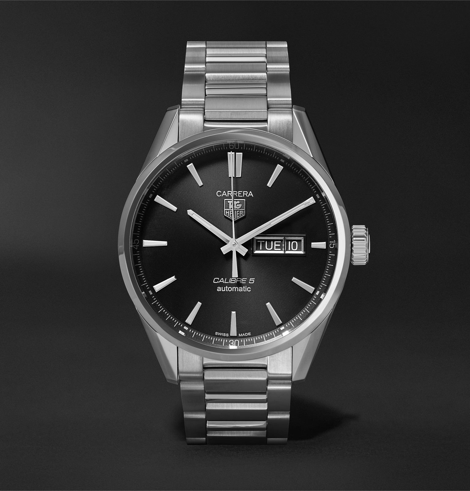 7a8bbe391 TAG Heuer - Carrera Automatic 41mm Steel Watch