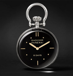 Officine Panerai S.L.C. Stainless Steel Table Clock