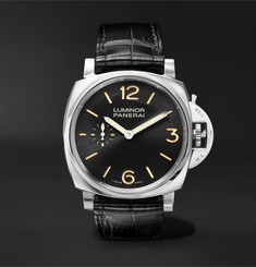 Officine Panerai - Luminor 1950 3 Days Acciaio 42mm Stainless Steel and Alligator Watch