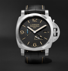 Officine Panerai Luminor 1950 3 Days Acciaio 44mm Stainless Steel and Alligator Watch