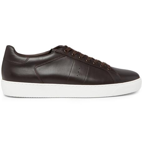 J.M. WESTON Leather Sneakers - Dark Brown