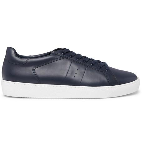 J.M. WESTON Leather Sneakers - Navy