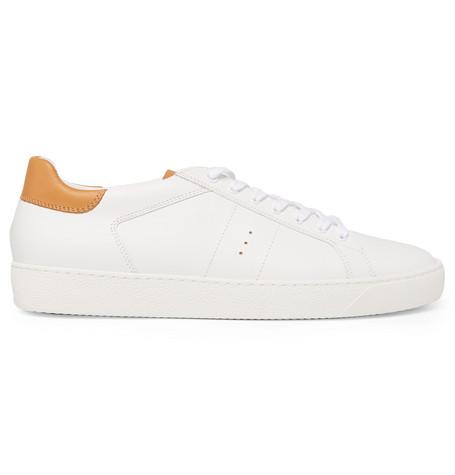 J.M. WESTON Leather Sneakers - White