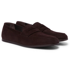 J.M. Weston - Suede Penny Loafers