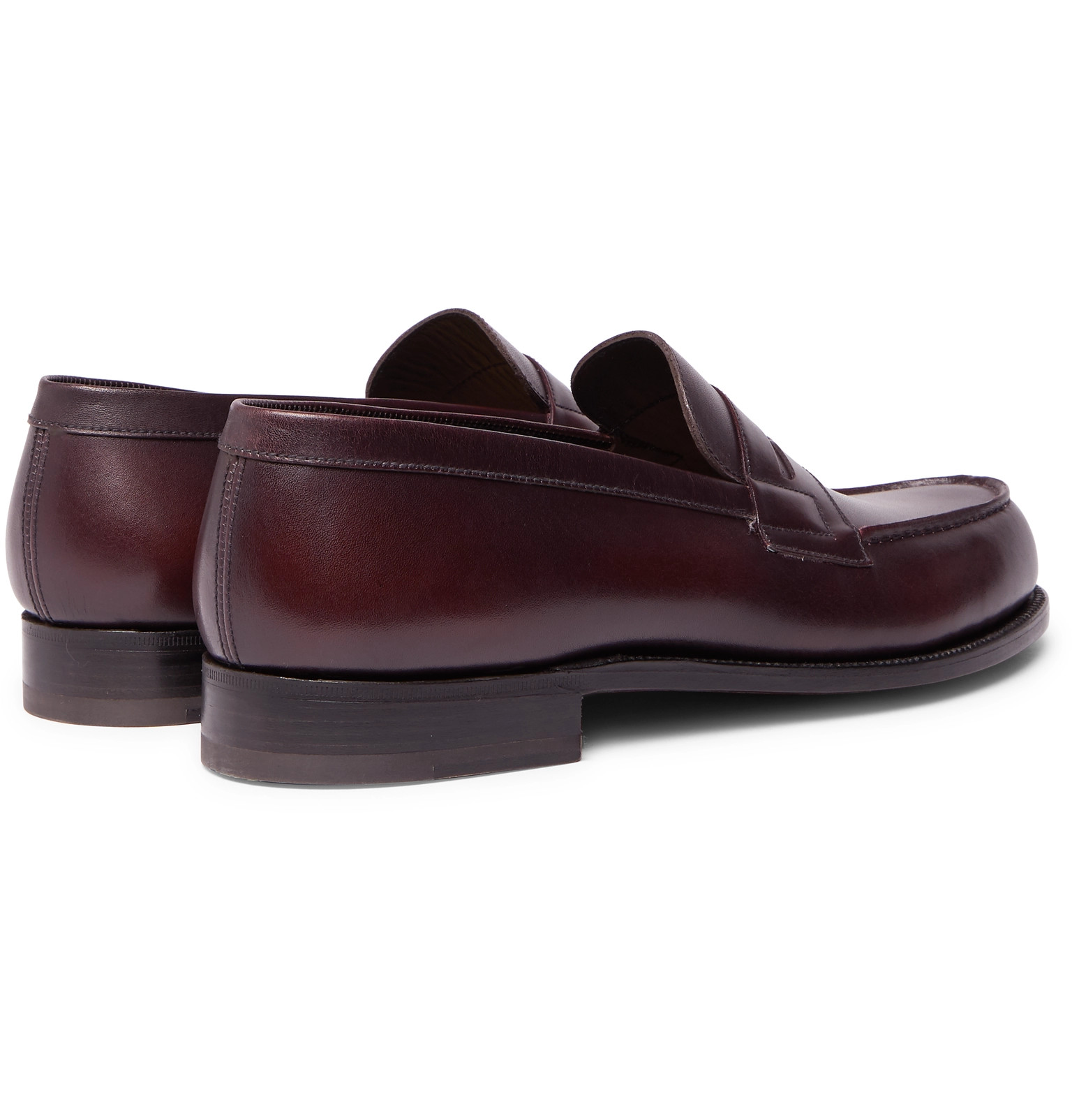 a15aaf9c1b3 J.M. Weston - 180 The Moccasin Burnished-Leather Penny Loafers