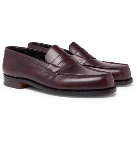 180 The Moccasin Burnished-leather Penny Loafers J.M. Weston JoFHvzkb