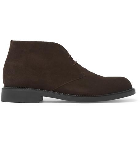 J.m. Weston Suede Desert Boots In Brown