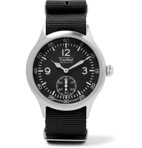 Merlin 246 Stainless Steel And Ballistic Nylon Watch by Techne Watches