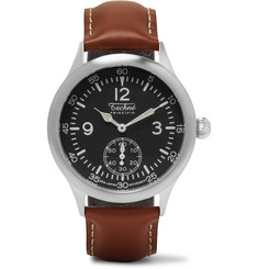 Techne Watches - Merlin 246 Stainless Steel and Leather Watch
