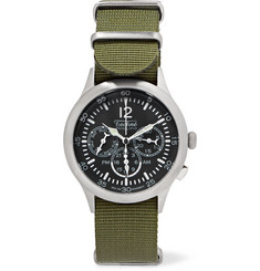 Techne Watches - Merlin 296 Stainless Steel and Webbing Watch