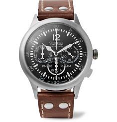 Techne Watches - Merlin 296 Stainless Steel and Leather Watch