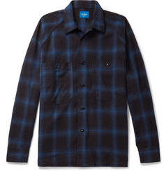 Beams Checked Cotton-Flannel Shirt