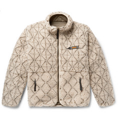 KAPITAL Reversible Printed Fleece and Nylon Jacket