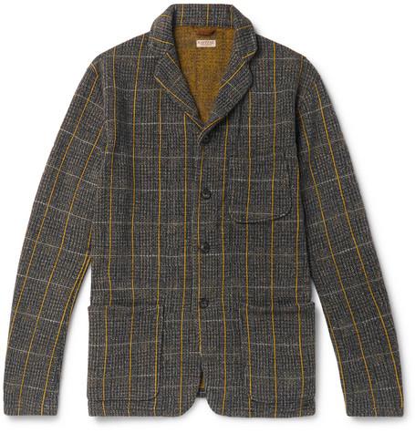 KAPITAL Fleece-Back Cotton-Blend Tweed Jacket - Gray