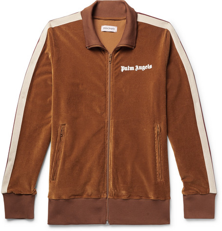 Striped Cotton Corduroy Track Jacket by Palm Angels